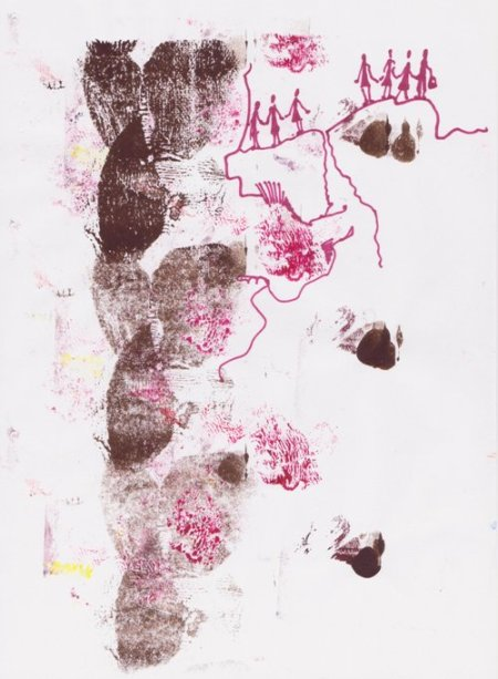 mixed media on paper | 29,7 x 21 cm | 2009<br><i>technique mixte sur papier</i>