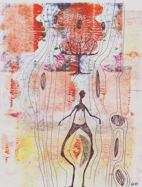 <i>Day Dream</i><br>mixed media on paper | 28 x 21 cm | 2011<br><i>technique mixte sur papier</i>